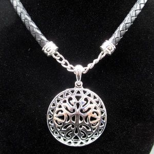 Jewelry - Gothic Pendant Black Leather Cord Necklace